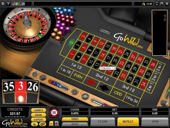 go wild casino roulette
