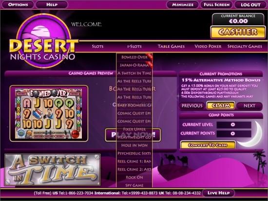 desert nights casino lobby