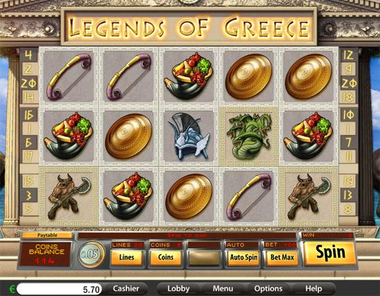 legend of grece slot