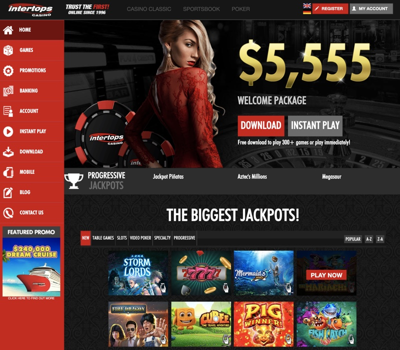 Intertops Red Casino No Deposit Bonus Codes