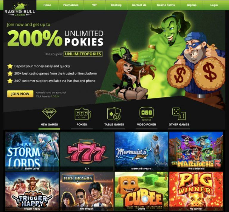 Raging Bull Casino Bonus Codes 2021